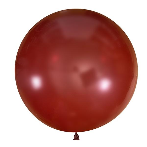 Большой олимпийский бордовый шарик 90 см.