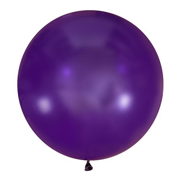 Большой олимпийский темно-фиалетовый шарик 90 см.