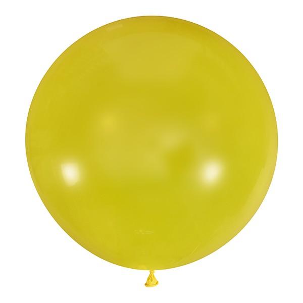 Большой олимпийский прозрачный желтый шарик 90 см.