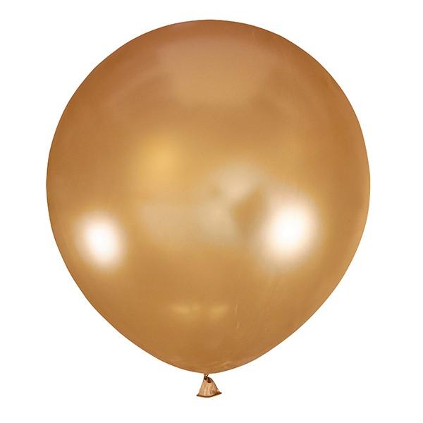 Большой олимпийский золотой шарик 90 см.