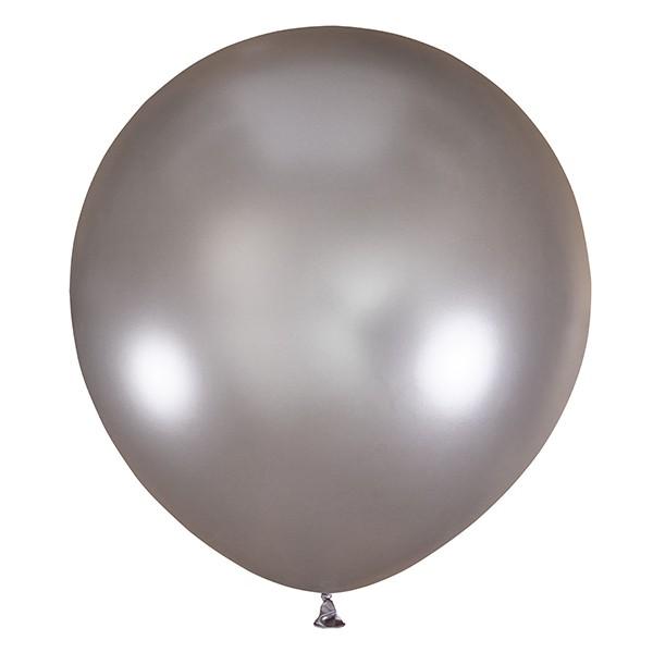 Большой олимпийский серебряный шарик 90 см.