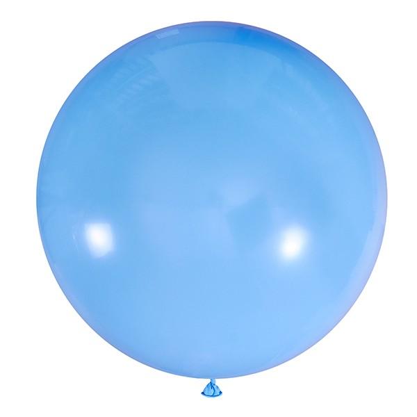 Большой олимпийский голубой шарик 90 см.