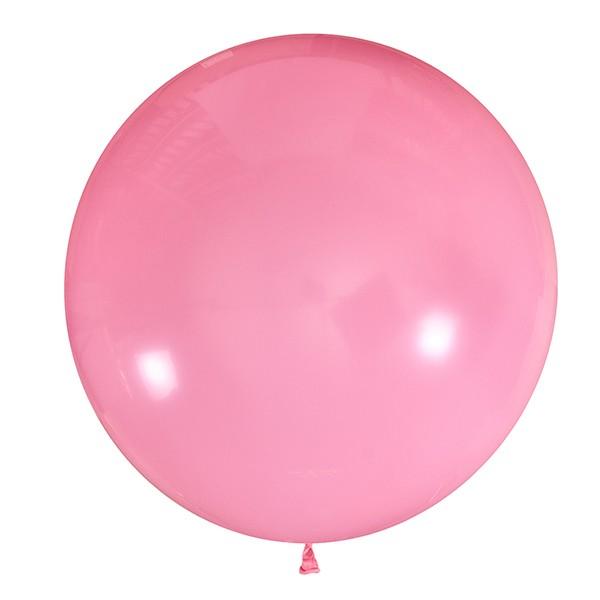 Большой олимпийский розовый шарик 90 см.