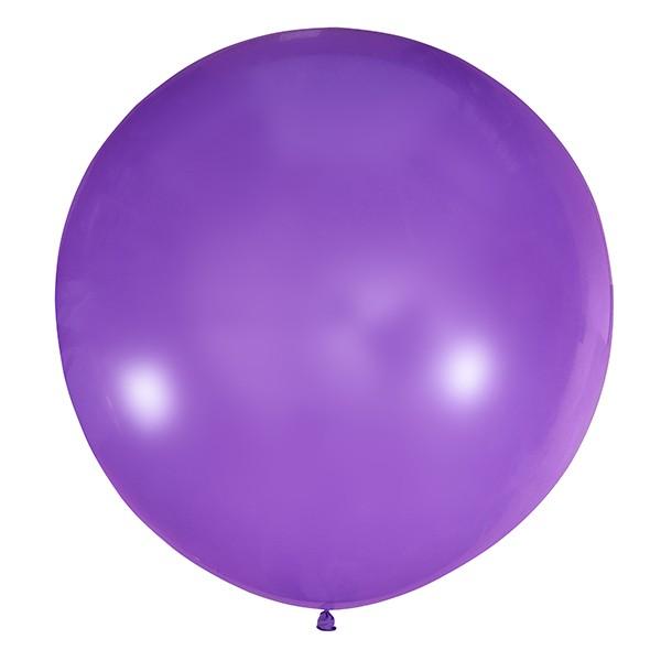 Большой олимпийский фиолетовый шарик 90 см.