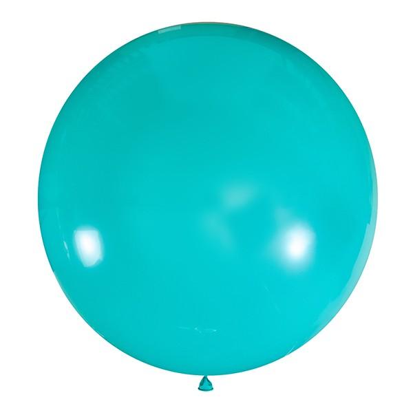 Большой олимпийский бирюзовый шарик 90 см.