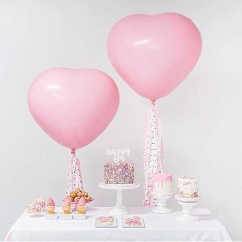 Шар сердце розовое квалатекс 100 см
