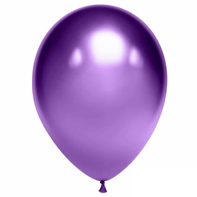 Воздушный шарик хромированный фиолетовый
