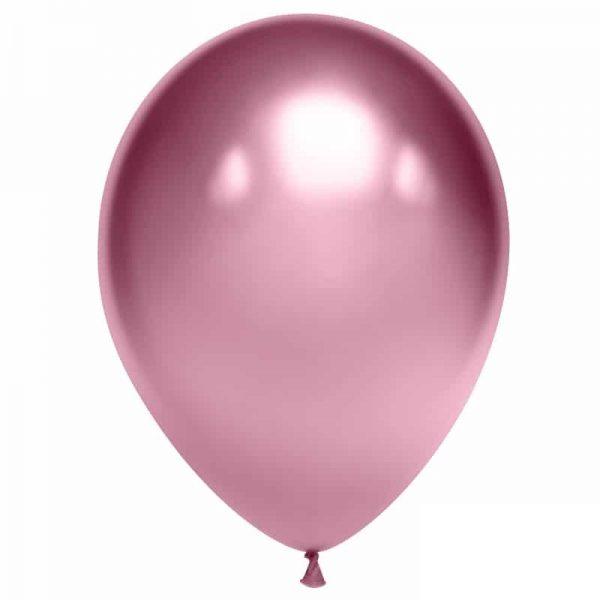 Воздушный шарик хромированный розовый