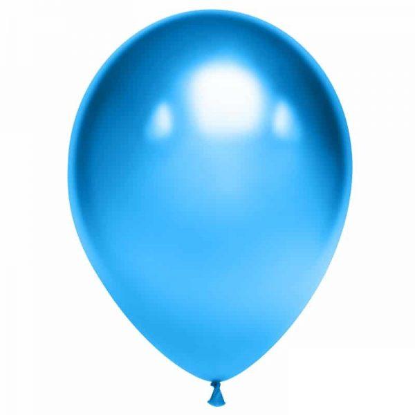 Воздушный шарик хромированный синий
