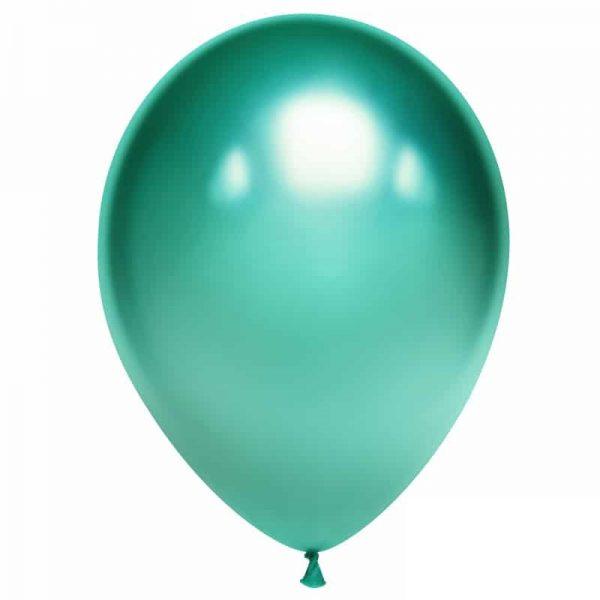 Воздушный шарик хромированный зеленый
