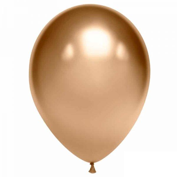 Воздушный шарик хромированный золотой