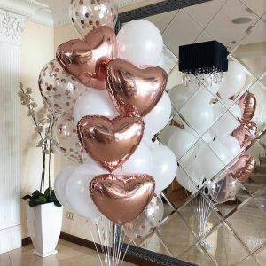 Фонтаны из шаров на свадьбу
