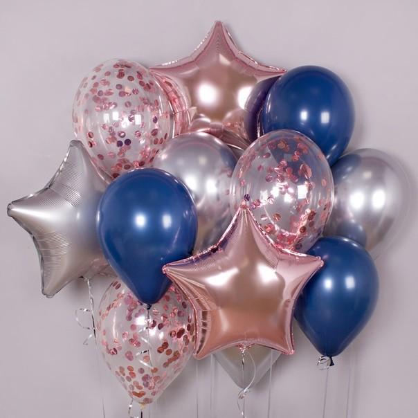 шарики на крестины для девочки