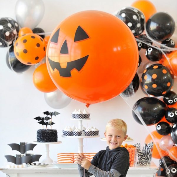 Украшение шарами детского Хеллоуина